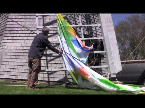 Art in its sails: A happening at Prescott Farm windmill