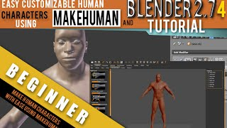 How To Make Human Characters Using Makehuman For Blender 2.74