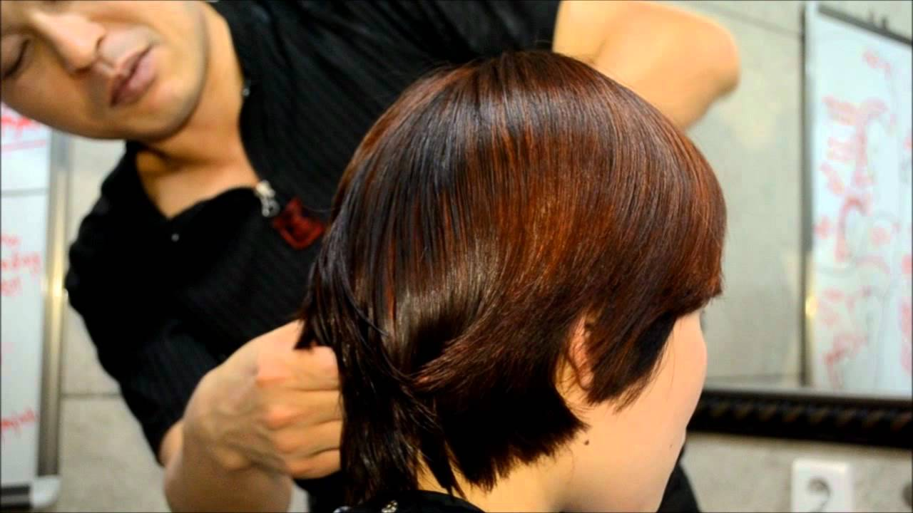 Lady HairCut On The Nape Area To Be Shorter Hair YouTube