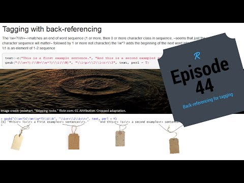 Episode 44-R Back-referencing character strings (for tagging)
