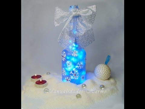 Download video como decorar una botella para navidad - Como decorar para navidad ...