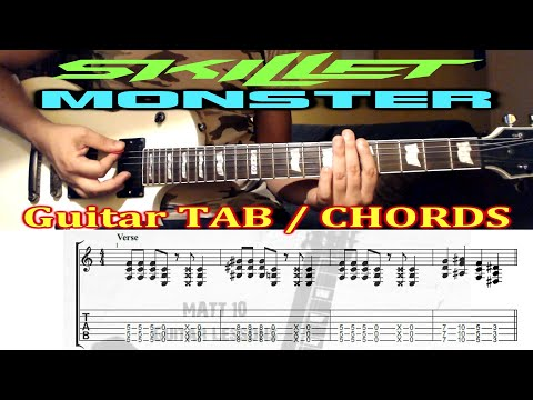 Monster (Skillet) GUITAR TAB and CHORDS - EASY ROCK GUITAR SONG