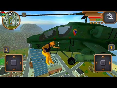 Grand Mafia Crime San Andreas #9 Jumping Out Of Helicopter Into Water | Android GamePlay FHD