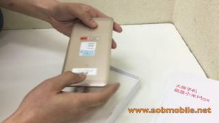 unboxing แกะกล อง xiaomi mi max standard gold color by a o b mobile