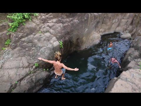 Cliff Jumping in El Tunco, El Salvador