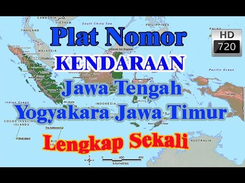 Plat Kendaraan di Provinsi Jawa Tengah Yogyakarta dan Jawa Timur