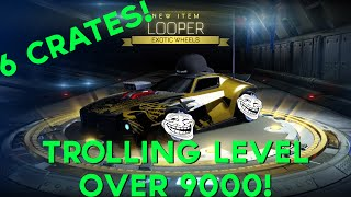 Taking It To A TROLL New Level! - 6 Crate Openings (LOOPERS)! - Rocket League