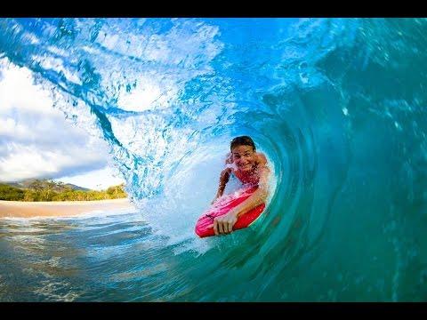 HAWAII. FAMOUS WAIKIKI BEACH. LEARN BOOGIE BOARDING. FUN.