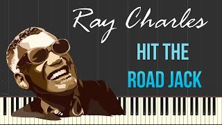 Ray Charles - Hit The Road Jack (Piano Tutorial Synthesia)