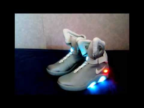 a2fa222a4bbb09 Back to the Future Marty Mcfly Nike Mag Air Shoe Replicas - YouTube