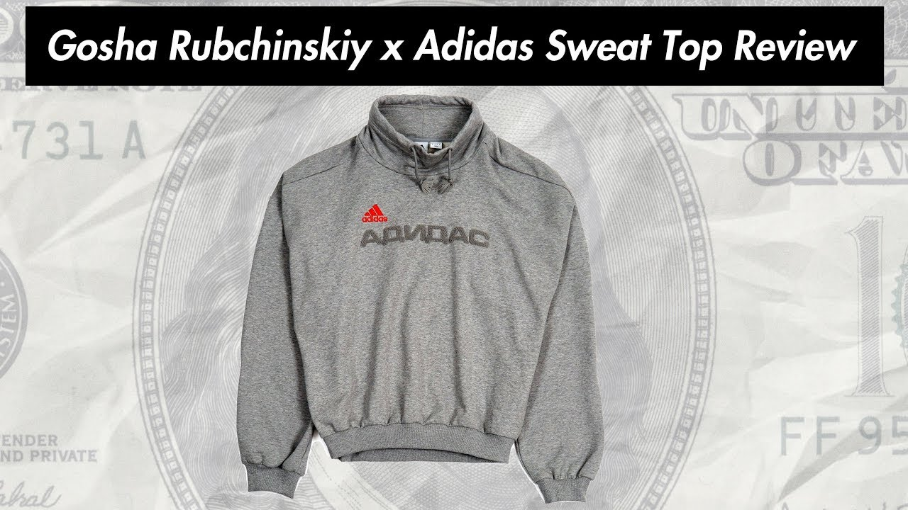new product 0e511 eeea7 Gosha Rubchinskiy x Adidas Sweat Top Grey Colorway Review