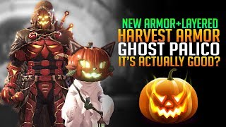 NEW Harvest Layered Armor & Palico Ghost Armor - Monster Hunter World Autumn Festival