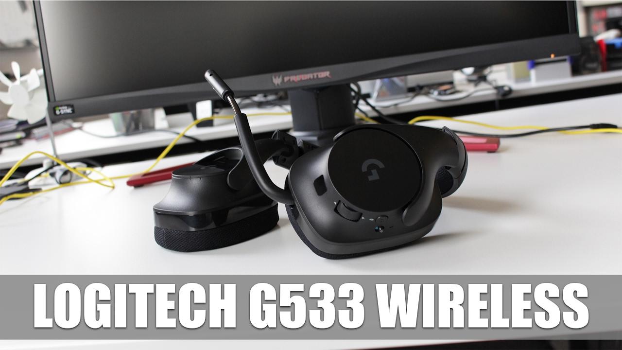 Logitech G533 Wireless Headset mit virtuellem 7 1-Surround-Sound  (ausführliches Hands-On)