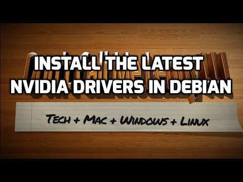 Установить Драйвера Nvidia Debian