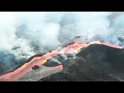 Kīlaueau Volcano — Lava Flow Aerial