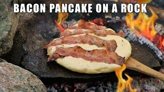Ultimate Bacon Pancake cooked on a Hot Rock