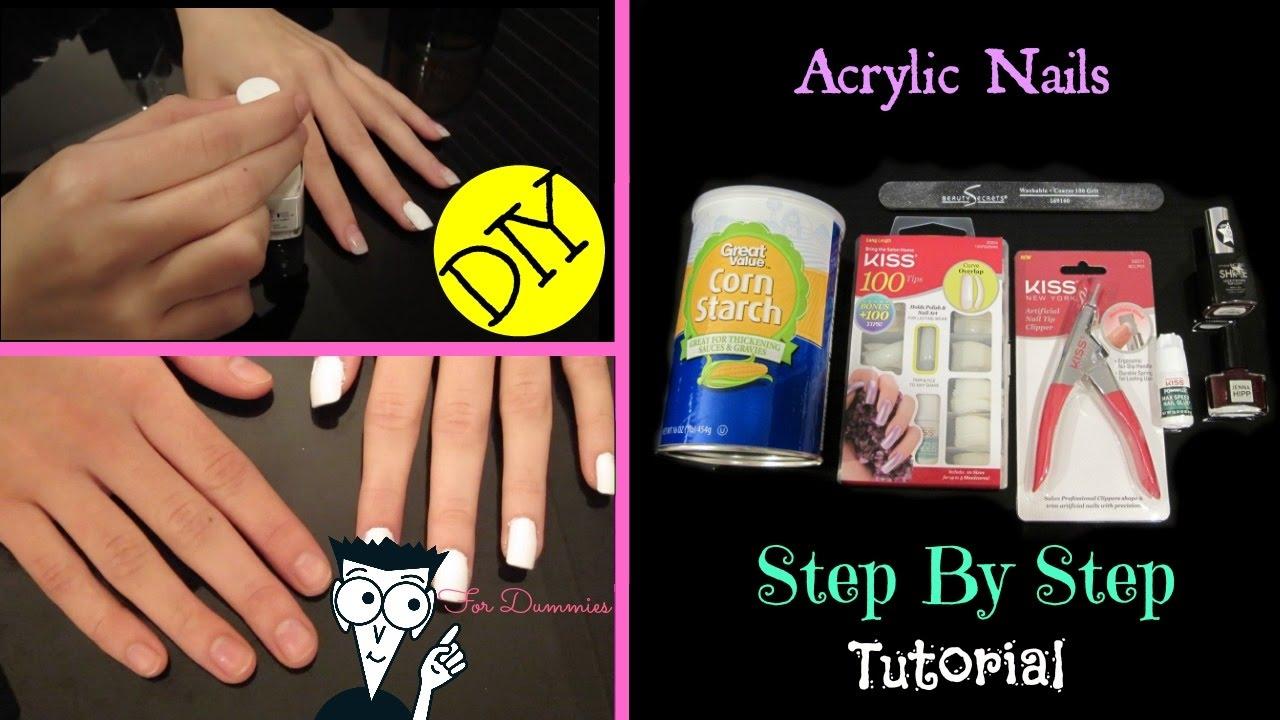 Enchanting cornstarch acrylic nails collection nail art ideas diy at home kiss acrylic nail tutorial for beginners youtube solutioingenieria Images