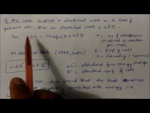 Gibbs Free Energy and Spontaneity : LN- CLASS XI Chemical Th