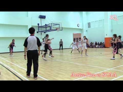 Active Five vs SCAA - バスケットボール親善試合
