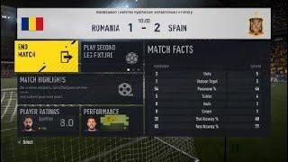FIFA 17 UEFA EURO 2020 QUALIFICATION Romania vs Spain - gameplay