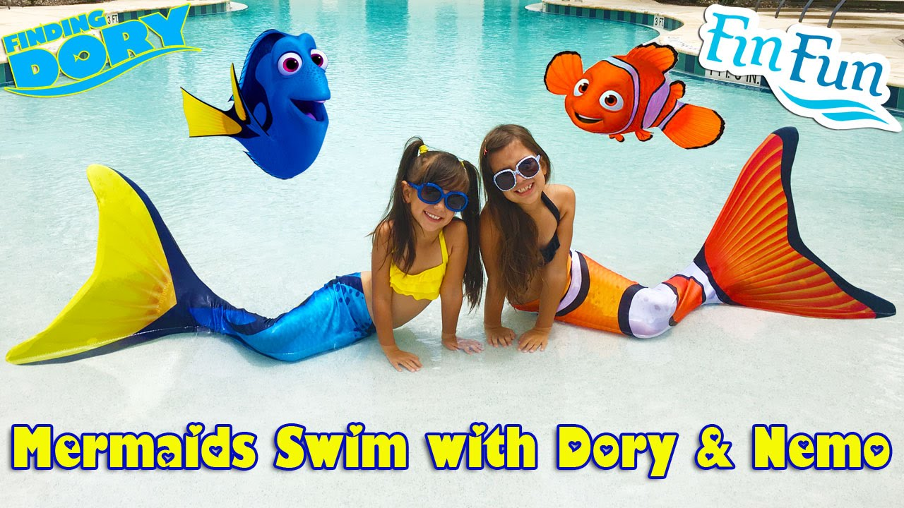 b052077d819 FIN FUN MERMAID TAILS - Clown Fish and Blue Tang Mermaids - Disney ...