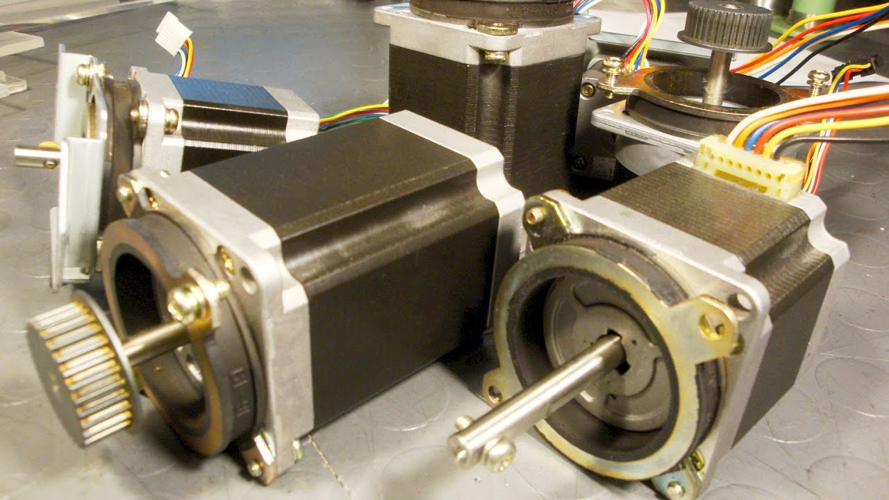 Salvaging Useful Parts From Copy Machines Stepper Motors