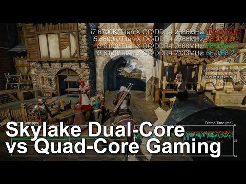 Intel Core i3 6100 vs Core i5 6600K vs Core i7 6700K CPU Gaming Benchmarks