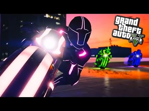 NEW DEADLINE GAME MODE WITH TRON BIKES! - GTA 5 Funny Moments #644