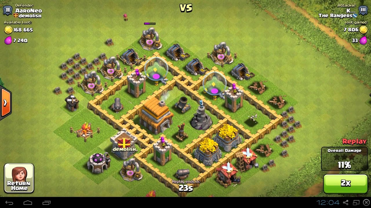 Best Town Hall Level 5 Th5 Base Defense Design Layout Strategy For Clash Of Clans Youtube