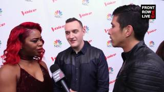 Ali Caldwell & Aaron Gibson Team Miley Interview - The Voice Top 8