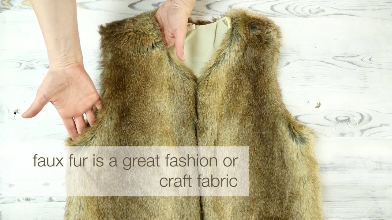 ebb8376ee How to Sew with Faux Fur - YouTube