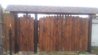Деревянные распашные ворота со сроком службы 50 лет, изготовление своими руками ворот с калиткой(, 2016-01-10T17:32:04.000Z)