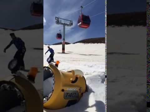 Kayseri Extreme sport Erciyes dağ solo Snowbort