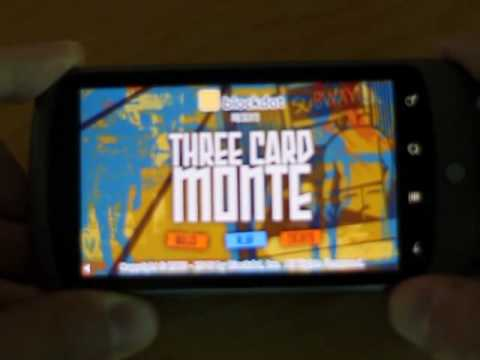 Three Card Monte On The Android Running In Adobe AIR