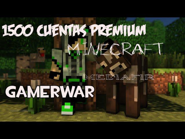 1500 cuentas premium para minecraft