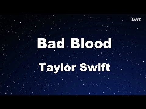 Bad Blood - Taylor Swift Karaoke【With Guide Melody】