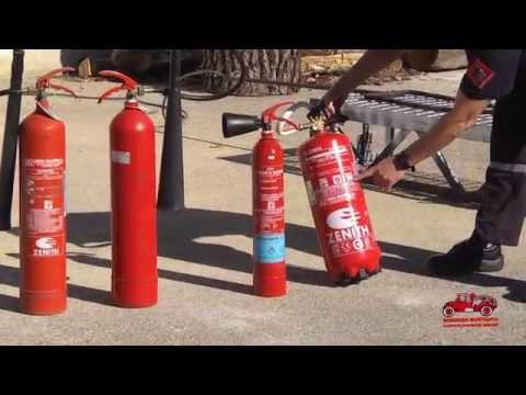 Como utilizar un extintor en caso de incendio