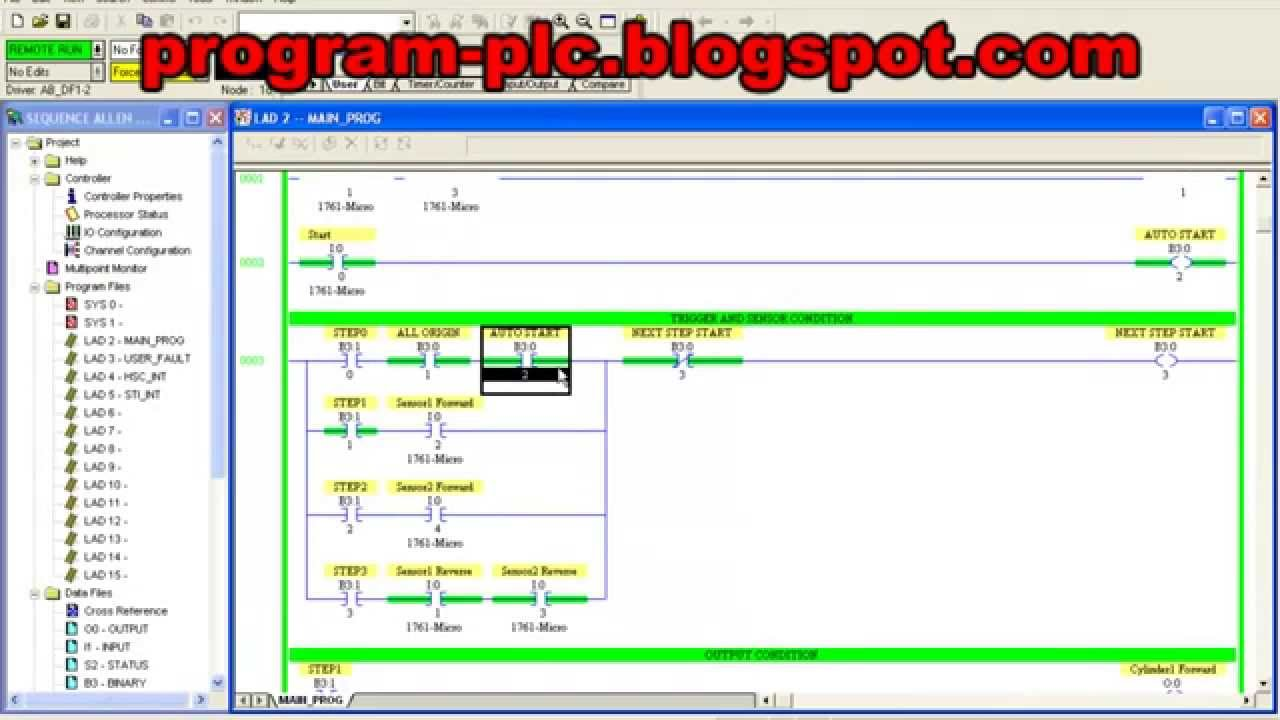 Standard Sequence Programming for Allen Bradley PLC - YouTube