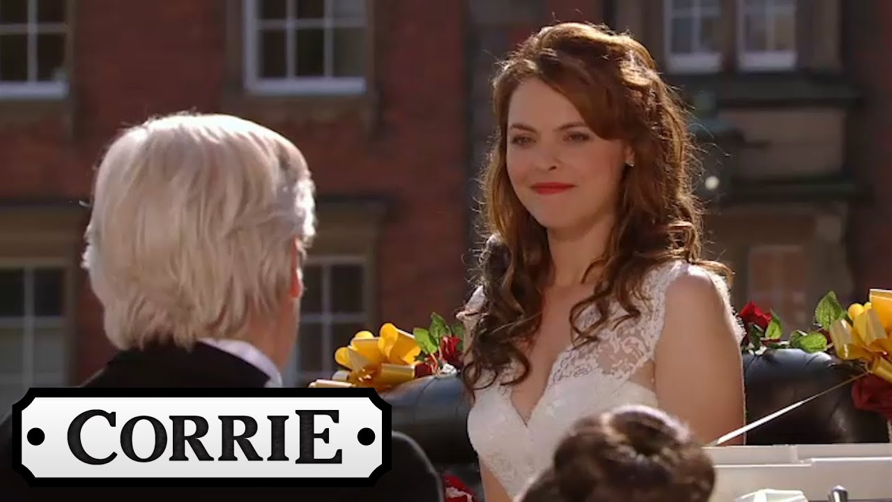 Coronation Street Tracy Arrives At Her Wedding Service