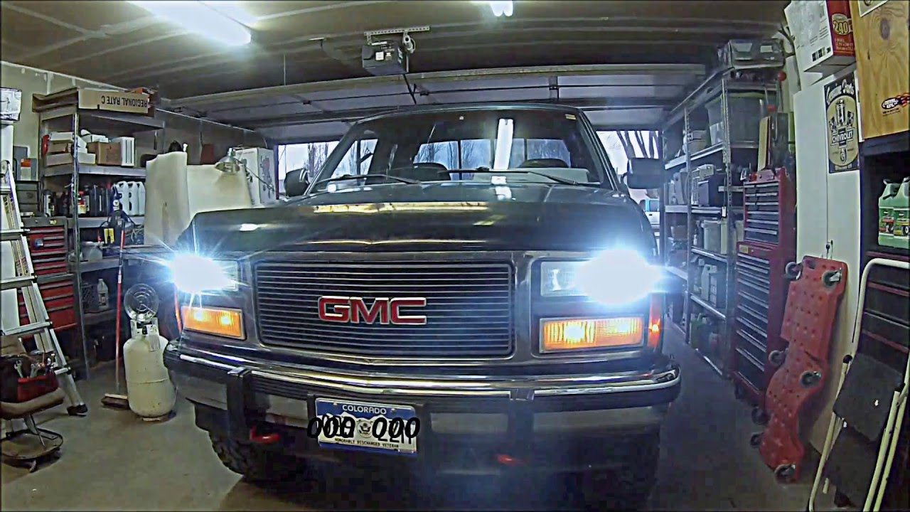 1994 Chevy Silverado Headlight Wiring Schematics Diagrams 1995 Gmc Diagram Hid Headlights 88 98 K1500 Youtube 1500 Custom Bumpers