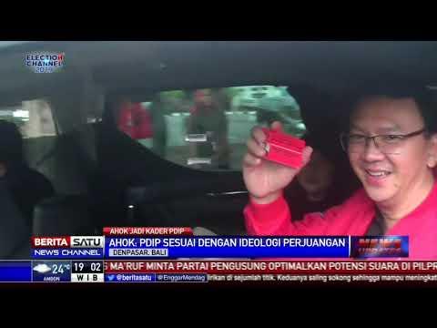 Pakai Jaket Merah, Ahok Resmi Gabung PDIP Mp3