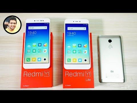 Redmi Y1 & Redmi Y1 Lite Unboxing & Comparison- Which One To Buy? ft. RN4