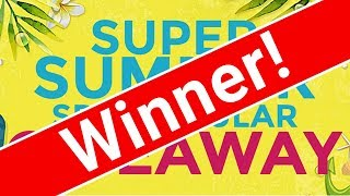 Super Summer Spectacular Giveaway WINNER!!