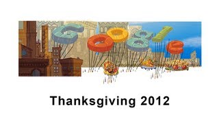 Thanksgiving Day 2012: Google Doodle (with animation) [HD]