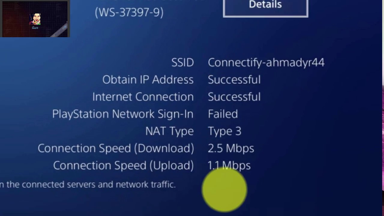 ps3 internet connection failed