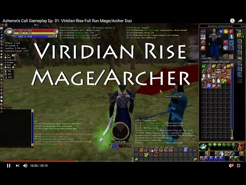 Asheron's Call Gameplay Ep. 01: Viridian Rise Full Run Mage/Archer Duo