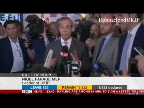 Nigel Farage comments Win or Lose this  referendum, we are winning the war