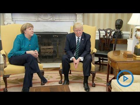 Awkward Moment: Trump ignores Germany's Merkel handshake request