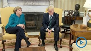 Awkward Moment: Trump ignores Germany