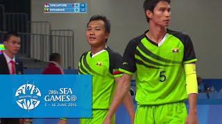 Sepaktakraw Mens Doubles SIN vs MYA  (Day 9) | 28th SEA Games Singapore 2015